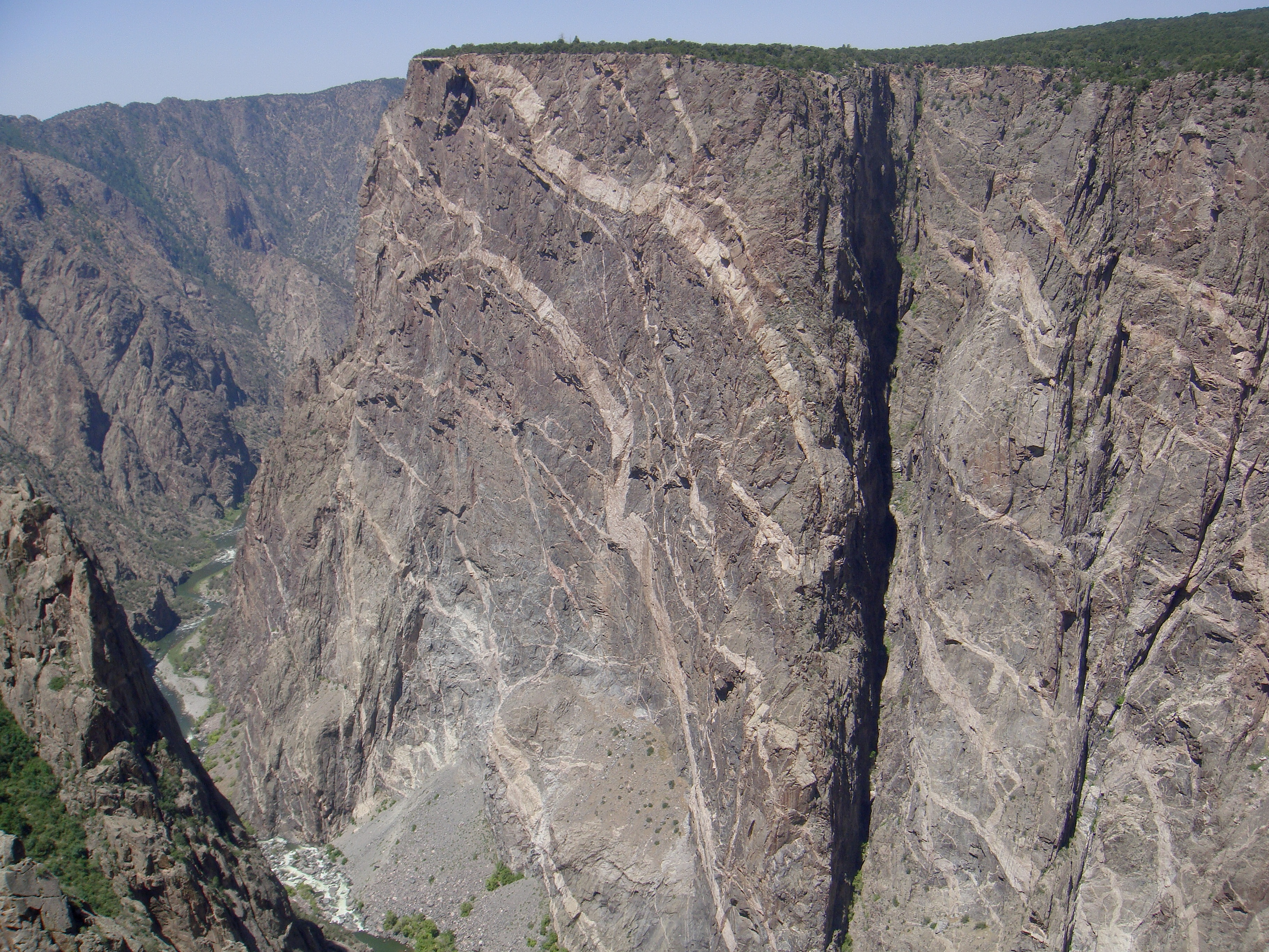 The painted wall is a large cliff